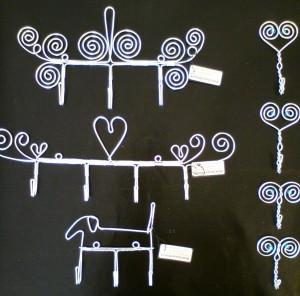Krokar i rostfri tråd
