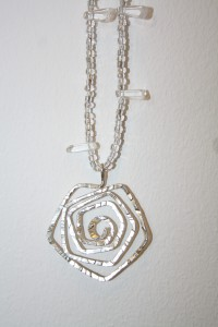 SilverSpiral transparenta pärlor