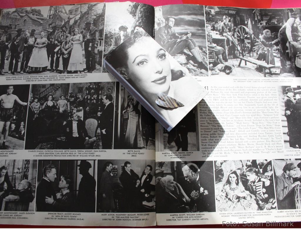 Filmstjärnebok och dekorerad tändsticksask.jpg