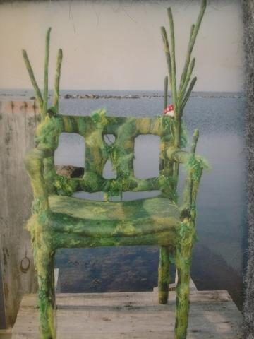 Grön tovad stol