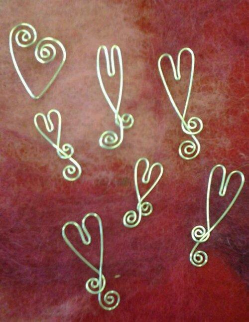 Silverhjärtan hängen