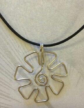 Halsband Silverblomma