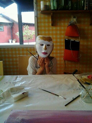 Elsa med mask