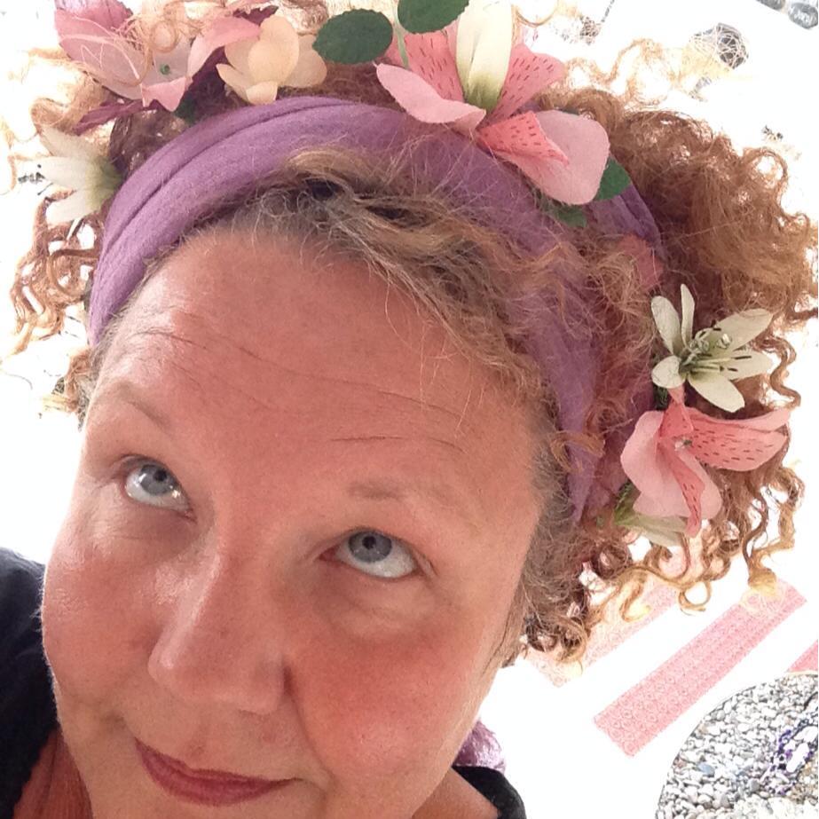 Jag med blomkrans i håret