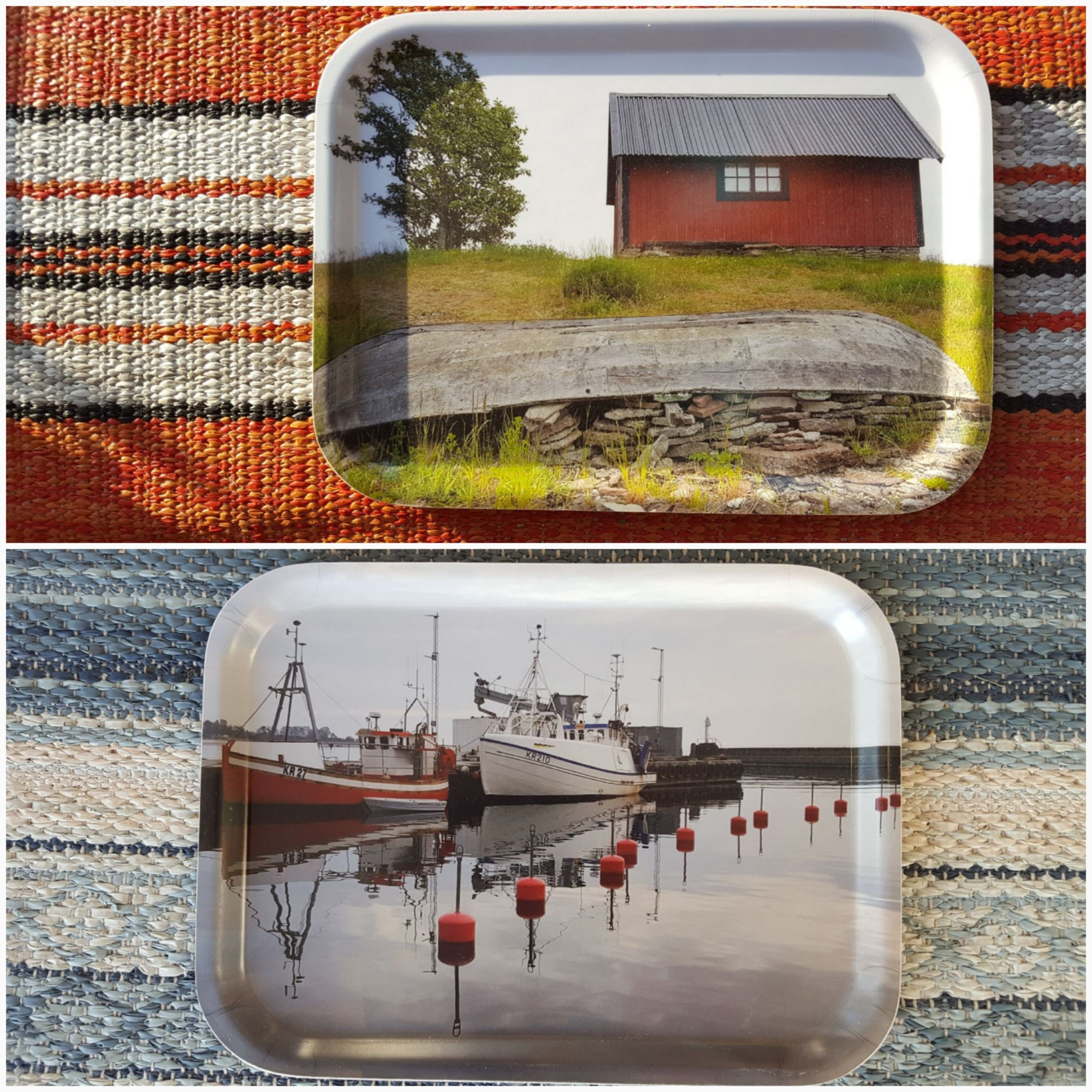 Brickor med foton från Byxelkrok