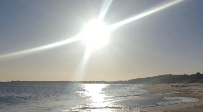 Stranden i januari